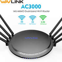 Wavlink Voll Gigabit AC3000 Drahtlose wifi Router/Repeater MU-MIMO Tri-band 2,4/5 Ghz Smart Wi-Fi Router touchlink USB 3.0