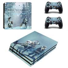PS4 Pro стикер s Monster Hunter World Iceborne PS 4 Pro Кожа Стикеры для playstation 4 Pro консоль и контроллер