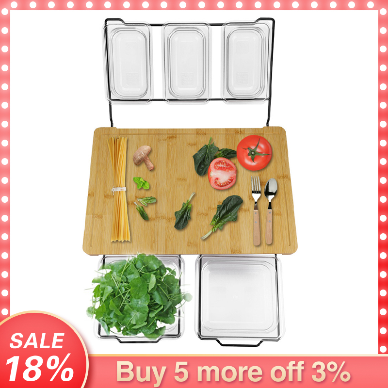 Multi-functional Cutting Board With Trays Vegetable Meat Tools Kitchen Accessories Chopping Board Kitchen Organizer Cutting Boar(China)