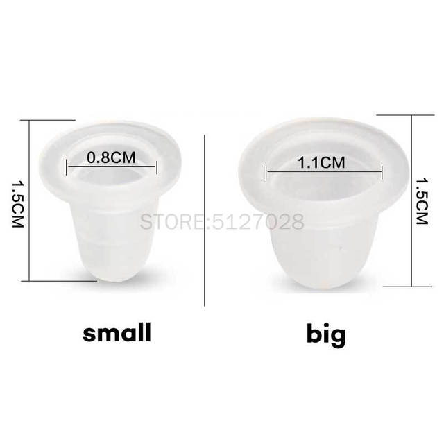 100Pcs soft Microblading Tattoo Ink Cup Cap Pigment Silicone Holder Container S/L For Needle Tattoo accessory supply 2