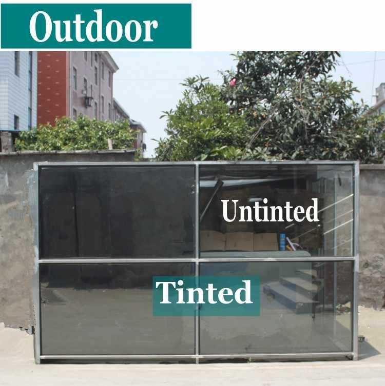חדש כסף חלון סרט דביק אחד דרך מראה אחד דרך פרספקטיבה UV-חסימת חום-בקרת פרטיות הגנת גוון-סרט