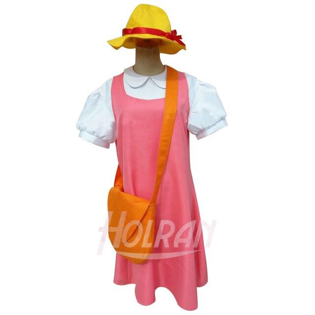 TV Anime Tonari no Totoro Cosplay Costume Mei Kusakabe Cos shirt Braces skirt hat bag Suit uniform Sets