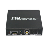 HD 1080P SCART/HDMI zu HDMI Konverter Adapter Digital High Definition Video für HD TV Blu Ray DVD