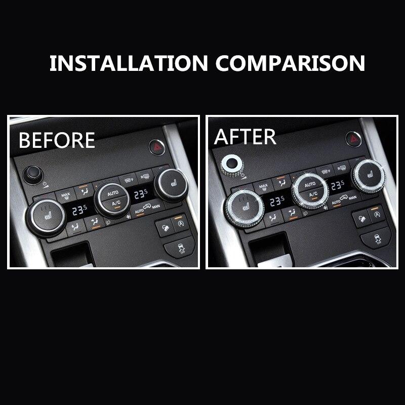 Diamond Audio Air Conditioner Knob Decoration For Land Rover 14-17 Range Rover Sport Executive Edition Aurora Interior Modified