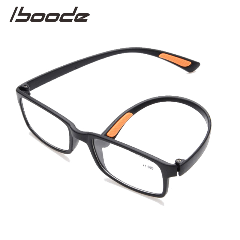 Iboode Ultralight TR90 Reading Glasses Women Men Square Vintage Elegant Presbyopia Eyeglasses +1.0 +1.5 +2.0 +2.5 +3.0 +3.5 +4.0