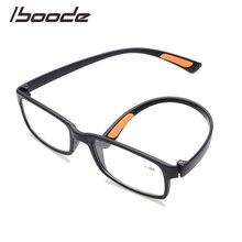 Iboode gafas de lectura TR90 ultraligeras, gafas cuadradas Vintage elegantes para presbicia para hombre + 1,0 + 1,5 + 2,0 + 2,5 + 3,0 + 3,5 + 4,0