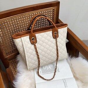 Image 1 - 2019 Large Shoulder Bag Women Travel Bags Leather Pu Quilted Bag Female Luxury Handbags Women Bags Designer Sac A Main Femme