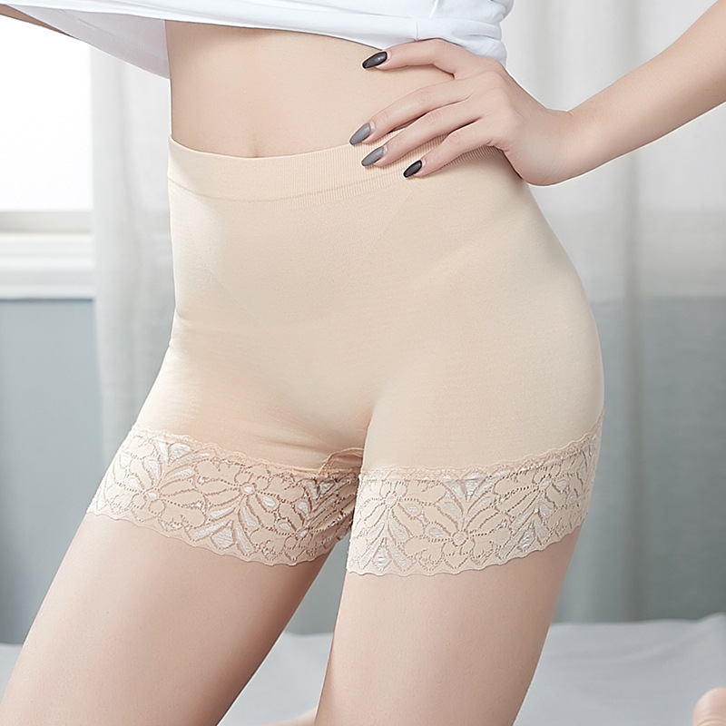 Seamless Shorts Tights Under Skirt Dress Womens <font><b>Boxer</b></font> Shorty <font><b>Femme</b></font> <font><b>Sexy</b></font> Anti Chafing Short Pants Women Underpants Lace Underwear image