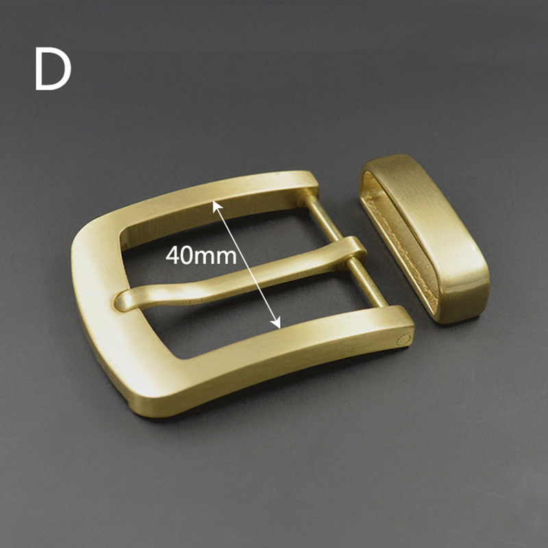 Deepeel 1pc 40mm Pure Brass Copper Pin Buckle Belt Head Carved Men Women Buckles DIY Leather Crafts Accessory for 38-39mm Belts