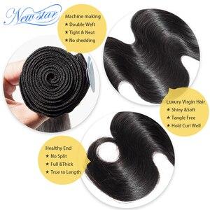 Image 4 - Tissage Body Wave brésilien 100% naturel vierge épais, nouvelle étoile, 3 lots de donateur, Extension de cheveux non traités, 10A cheveux