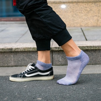 20Pcs=10Pair Breathable Men's Socks Short Ankle Socks Men Solid Mesh High Quality Male Boat Socks HOT SALE 2020 Hot