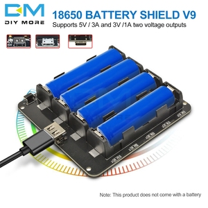 Four 18650 Lithium Battery Shield V9 Mobile Power band Micro/Type-C USB Expansion Board Module 5V/3A 3V/1A For Arduino ESP8266(China)