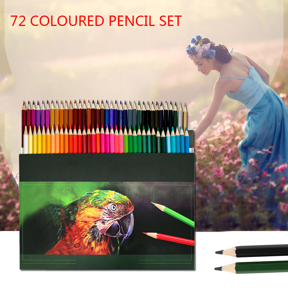72 Colored Pencil Set Crayons Colouring Drawing Pencils Set Watercolor Pencils Lead Water-soluble Colour Pencil Set Art Supplies