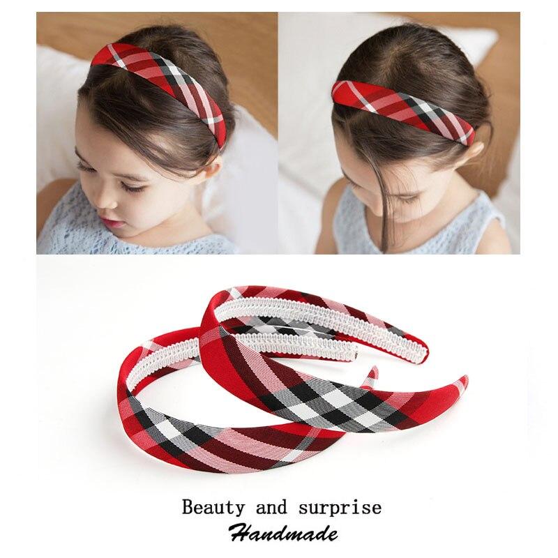 Children plaid bow Bezel Headwear Women Headband Girls Kids Hair Bands yoga Hairband holiday hoop for hair Accessories TB1