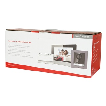 DS-KIS702 multi-language 2-Wire Video intercom KIT, include DS-KD8003-IME2 & DS-KH6320-WTE2 & DS-KAD704 , 2-Wire Doorbell