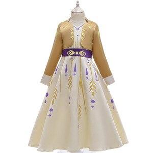Image 3 - 2020 חג המולד קפוא 2 מלכת אנה שמלת קוספליי תלבושות עבור ילד בנות מסיבת נסיכת Vestidos ילד בגדי שמלת 3 12 שנה