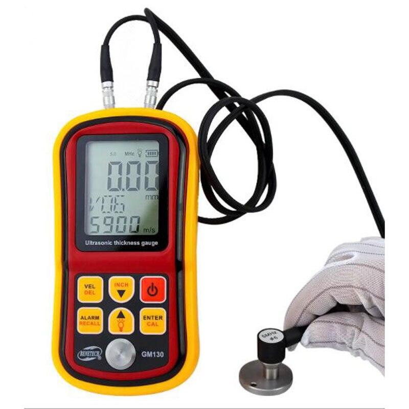 GM100 Metal Thickness Gauge Handhold Digital LCD Display Ultrasonic Tester Meter