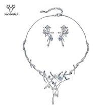 Viennois ожерелье и серьги набор украшений для женщин Элегантный крест дизайн набор ювелирных изделий для вечерние ювелирные изделия наборcrystal earrings necklacenecklace for weddingcrystals necklaces earrings  АлиЭкспресс