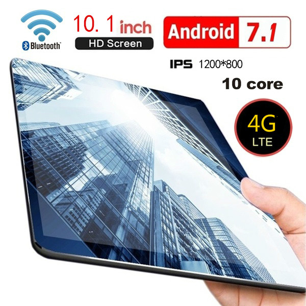 10 Inch New Tablet 6G+128G Android 8.0 WiFi Tablet PC Dual SIM Dual Camera Rear 5.0MP IPS Bluetooth WiFi  Android Tablet