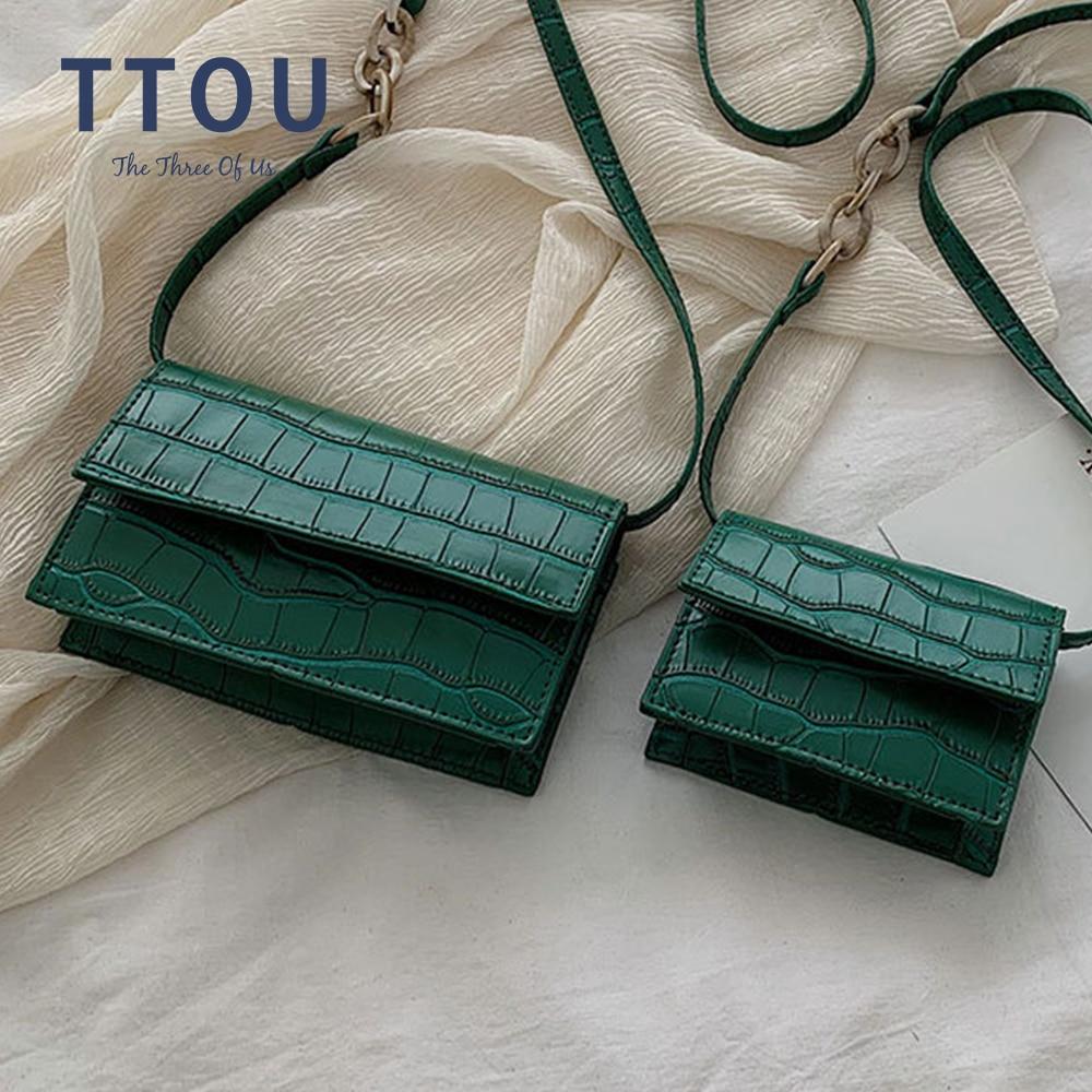 Women Retro Serpentine Crossbody Messenger Bag Shoulder Bag Handle Bags Hasp Versatile Handbag Ladies Crocodile Handbag Female