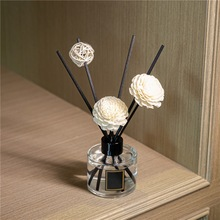 3pcs Daisy Flower Rattan Reeds Fragrance Diffuser Non-fire Replacement Refill Sticks Home Aromatic Incense