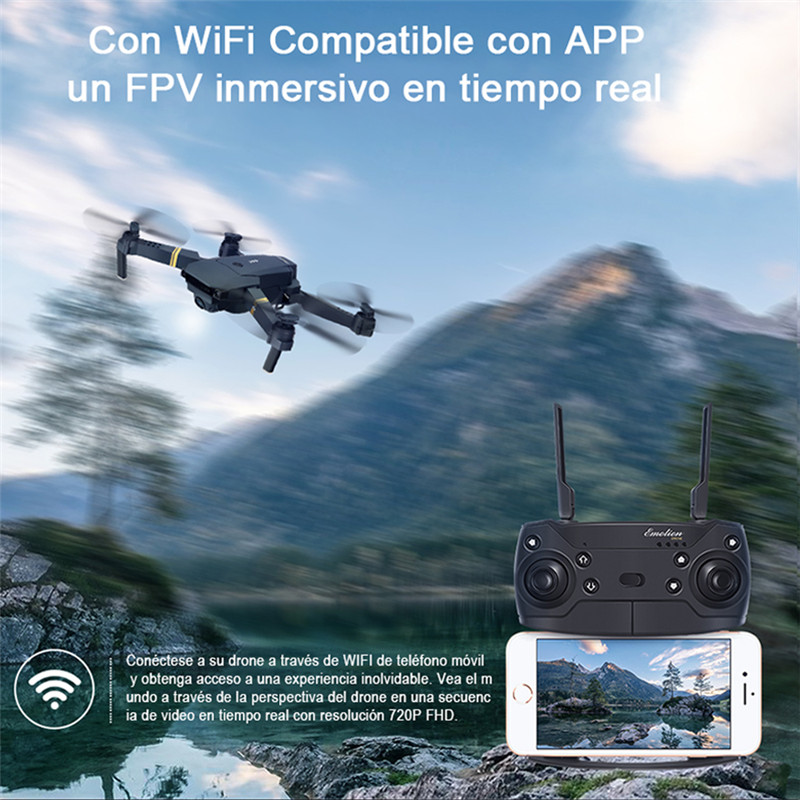 Eachine E58 WIFI FPV With Wide Angle HD 1080P Camera Hight Hold Mode Foldable Arm RC Quadcopter Drone RTF Dron Spanish warehouse 3
