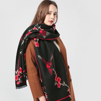2020 kaszmirowy damski szal luksusowej marki ciepłe szyi chustka Pashmina szale Wrap damskie chusty hidżab etole tanie i dobre opinie MOAIRROEW CASHMERE Akrylowe CN (pochodzenie) WOMEN Dla dorosłych Szaliki Moda Scarf Drukuj 175 cm