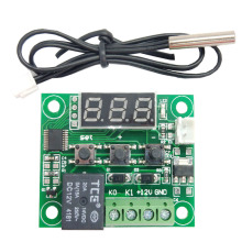 W1209 digital display thermostat high precision temperature controller temperature control switch miniature temperature control taidacent ntc waterproof temperature controller w1209s digital dual display 12 volt thermostat switch digital thermostat module