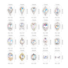 Swarovsky 20 Design Crystals Nail Diamond Stone Strass AB Glass Rhinestones For 3D Nails Art Decorations Supplies Jewelry cheap 3D Nail Art Sticker Decoration Metal Rhinestone Decoration 5Pcs Nail Art Decorations 20Models Flat Back Crystal Glass