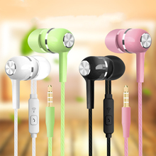 Mobile Wired Headphones Sport Earphone In Ear 3.5 Sport Earbuds Headset Mic Music Earphones for Phones