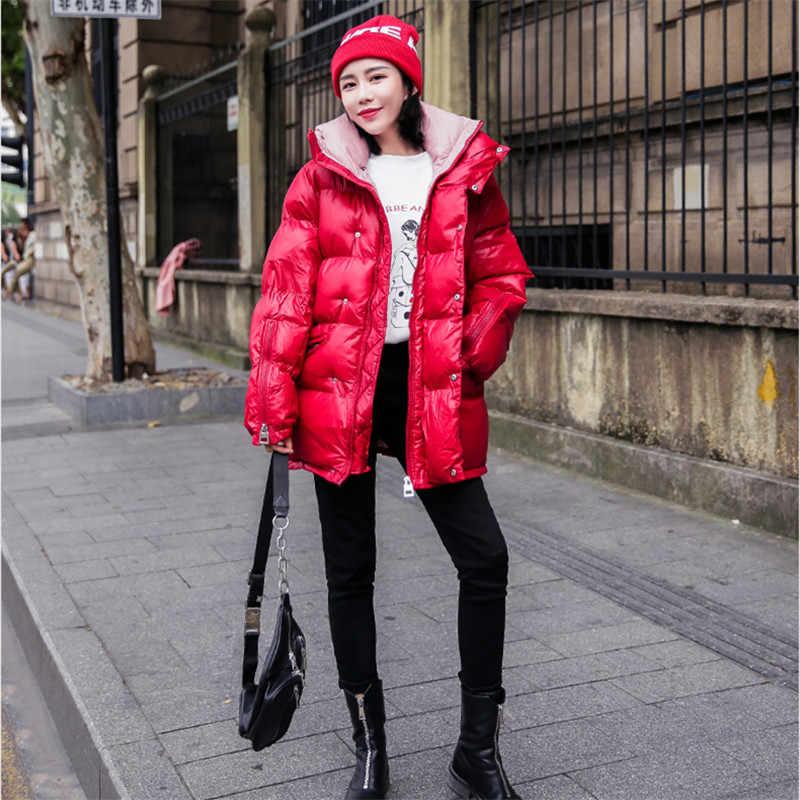 Куртки парки Mujer 2019 зимнее женское утепленное плотное Повседневное пуховая