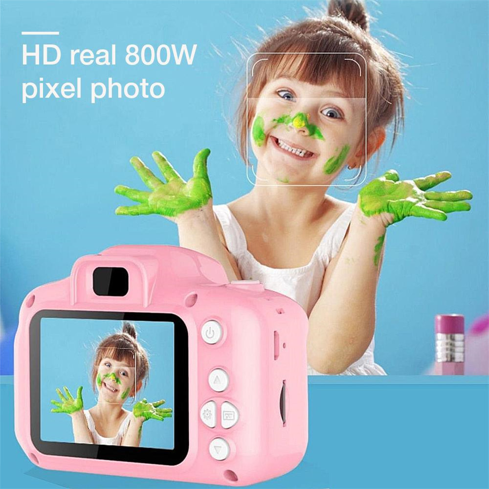 New style Mini Cute Camera Childrens Small Digital Camera SLR Motion Camera Toy Cartoon Game Photo Birthday Gift For Children