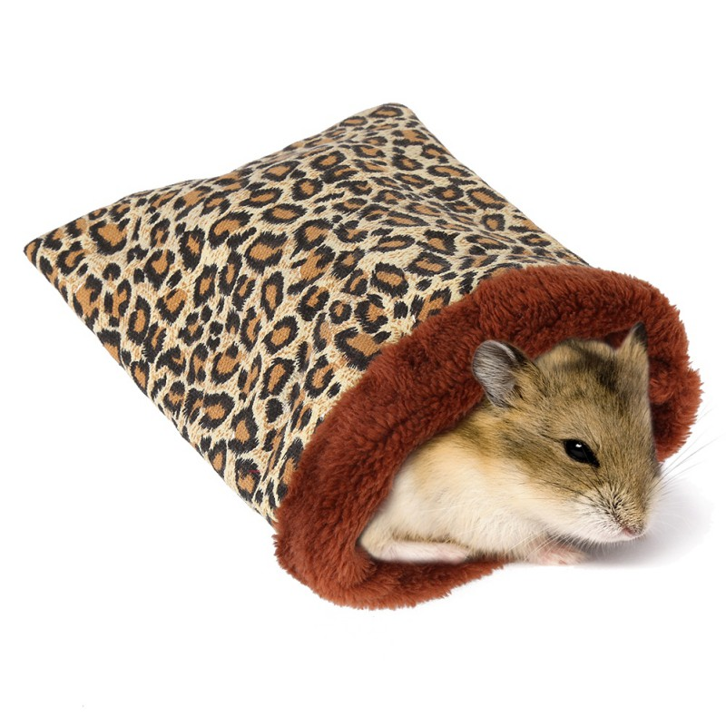 Warm Hamster Bed House Soft <font><b>Plush</b></font> <font><b>Guinea</b></font> <font><b>Pig</b></font> Bed Rat Nest Small Animals Mouse Sleeping Bag House Accessories Hamster Cage image