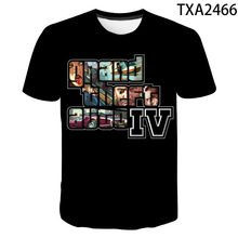 2021 New Grand Theft Auto 4 3D T Shirts Casual Boy girl Kids Fashion Streetwear Printed T-shirt Men Women Children Cool Tops Tee