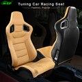 R-EP 2Pcs Tuning auto Racing Sitz Universal für Sport Auto Simulator Eimer Sitze Einstellbare Gelb PVC Leder 1 Paar XH-1041-YL