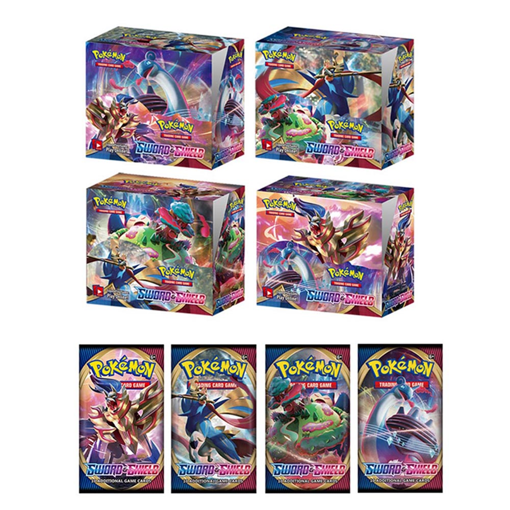 2020 Pokemon Action Figures Trading Card Game Set Booster Box Sword Shield Vmax New English Edition Tomy Children Toy 324pcs