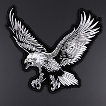 High Quality Big Eagle Wings Patches Embroidered Biker Motorcycle Iron on Patch DIY for Clothes Badge Fabric for Clothes Sticker