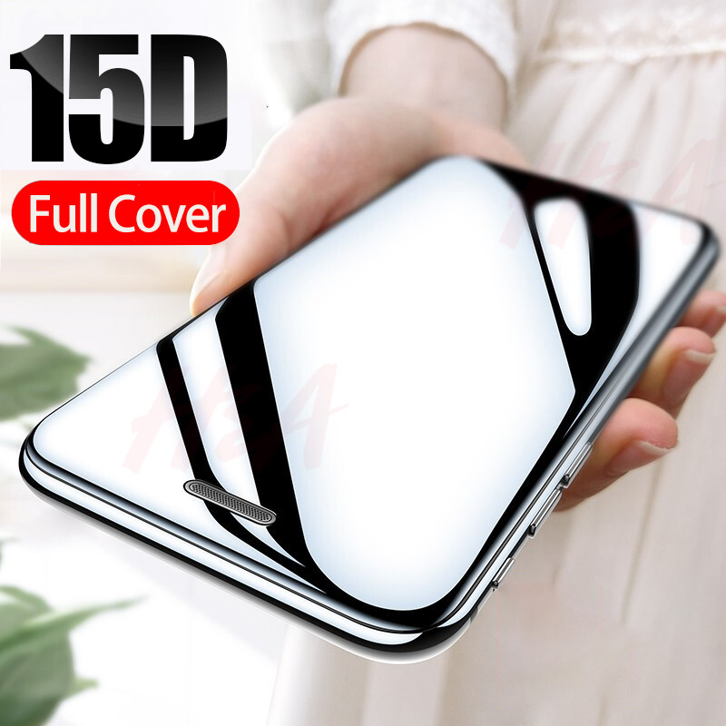 15D Curved Edge Full Cover Protective Glass On The For IPhone 7 8 6S Plus Tempered Screen Protector For IPhone X XR XS Max Glass