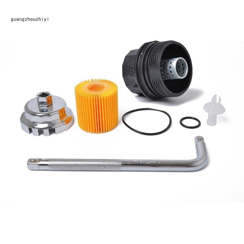 Nouveau filtre à huile et couvercle de filtre à huile pièces d'auto pour Toyota Corolla Matrix Prius 15620-37010 et 64.5mm clé de filtre à huile