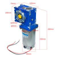 Super High Torque DC Gear Motor with 040 Gearbox DC 24V 90V 220V 180W 250W 22 240Rpm DC Permanent Magnet Motor without Shaft