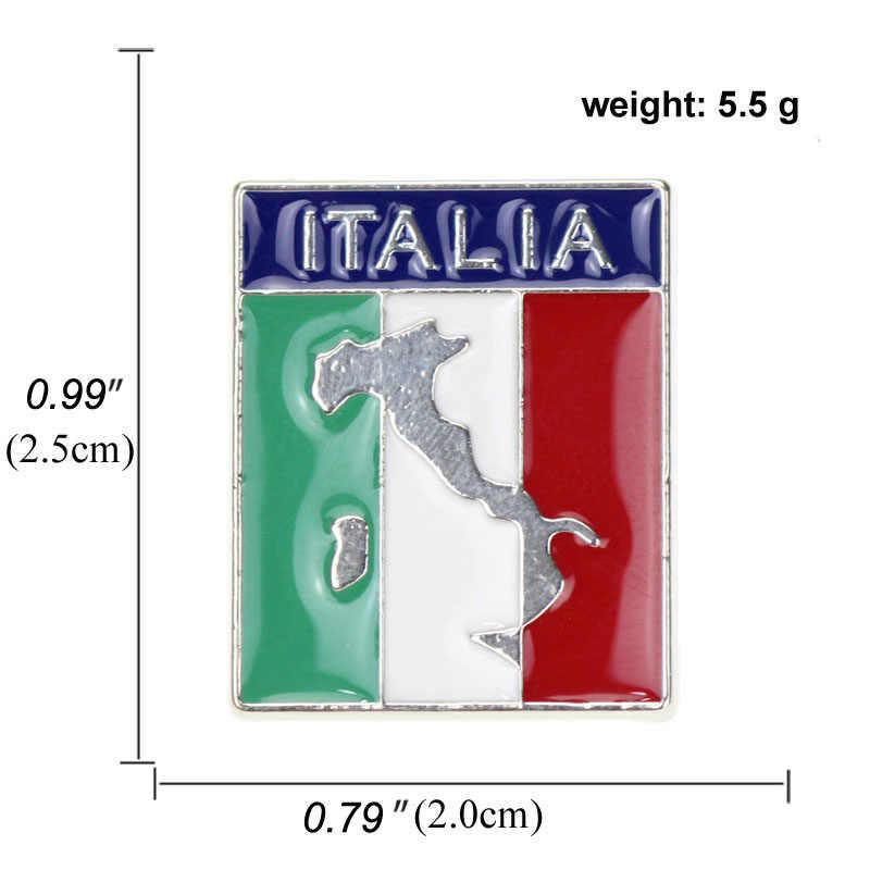Italia Amerika Austria Peta Bros dan Enamel Pin Paris Bahasa Italia Australia American Patriotik Kerah Pin