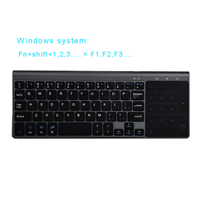 Image 3 - Zienstar bezprzewodowa Mini klawiatura z touchpadem i Numpad na komputerze z systemem Windows, Laptop, Ios pad, Smart TV, HTPC IPTV, android box