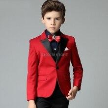 Prince Jacket Vest Pants 3Pcs Tuxedo Dress Children Piano Show Performance Party Costume Flower Boy Luxurious White Wedding Suit
