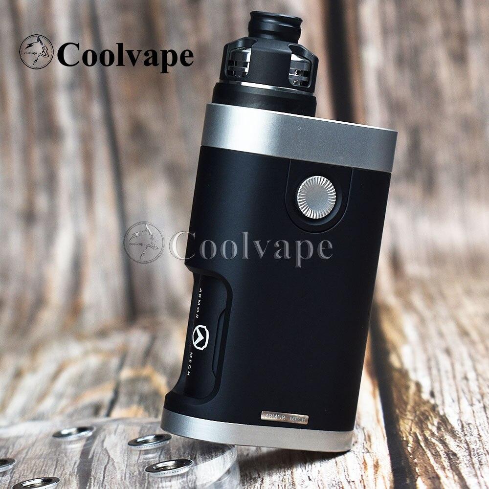 Coolvape Armor Mech V2 Mod With Armor Mods Engine Rda 18650 Battery Mechanical Mod 4.5mL Electronic Cigarette Vaporizer Kit