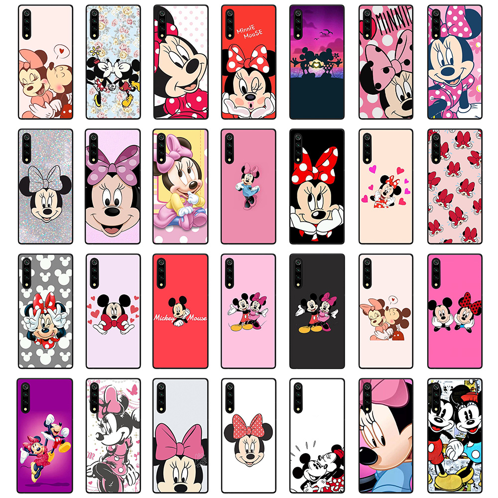 For <font><b>Samsung</b></font> <font><b>A50</b></font> Soft Silicone Case Galaxy <font><b>A50</b></font> <font><b>Phone</b></font> Back Cover Cases Cute Mickey Minnie mouse image