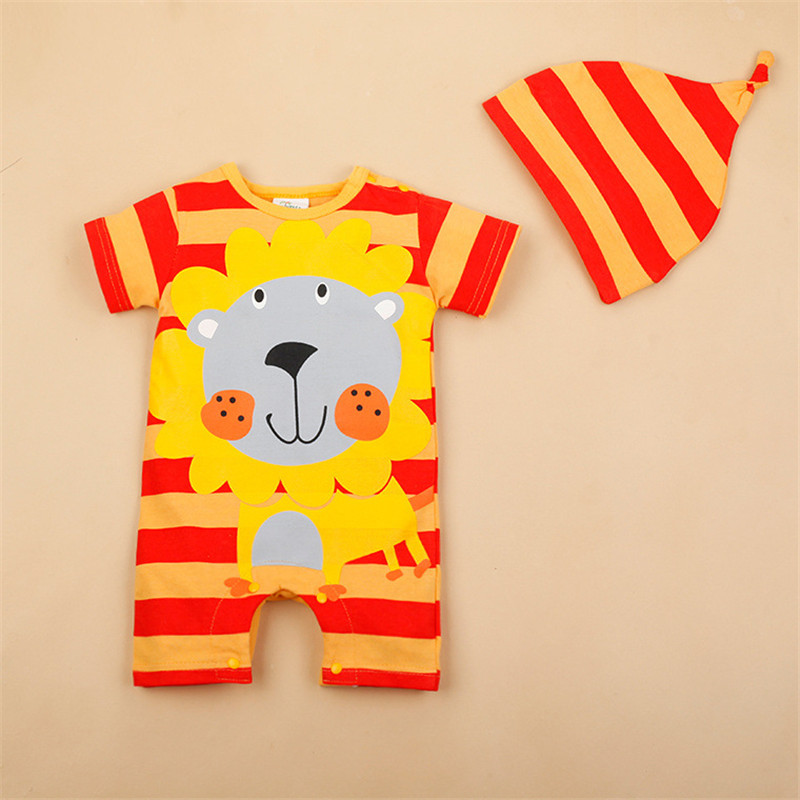 Hced50f40cc594b1e97773547057e5c22L Newborn baby cotton rompers lovely Rabbit ears baby boy girls short sleeve baby costume Jumpsuits Roupas Bebes Infant Clothes