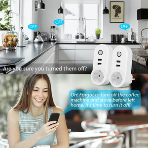 Image 4 - Smart WiFi Power Plug Outlet EU Electrical Socket with USB Smartlife App Timer Wireless Remote Control by Tuya Alexa Google Home