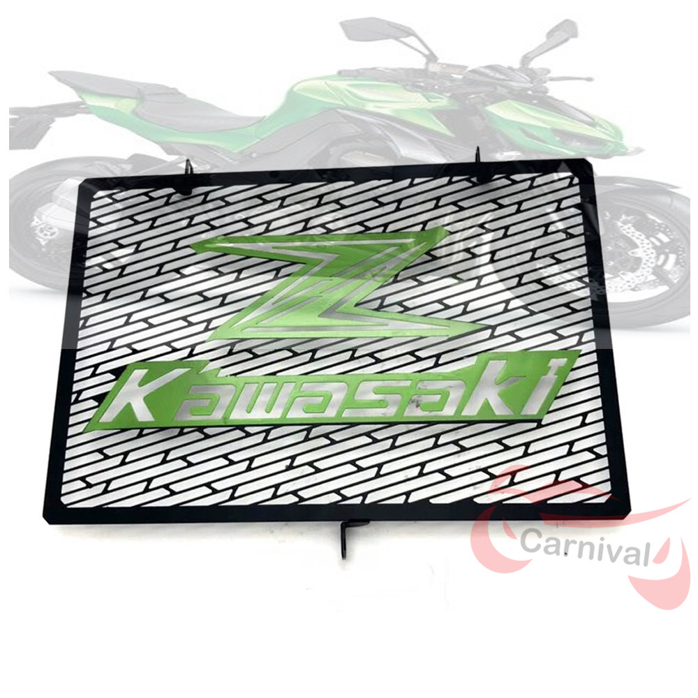 Motorcycle for <font><b>Kawasaki</b></font> Z750 Z1000 <font><b>Z1000SX</b></font> Z800 Motorcycle Accessories Stainless Steel Radiator Grill Protection 2017 2018 <font><b>2019</b></font> image