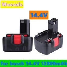 Para bosch 14.4v 12800mah ni-cd bateria de ferramenta elétrica recarregável para bosch bat038 15614 1661 1661k 22614 23614 32614 33614