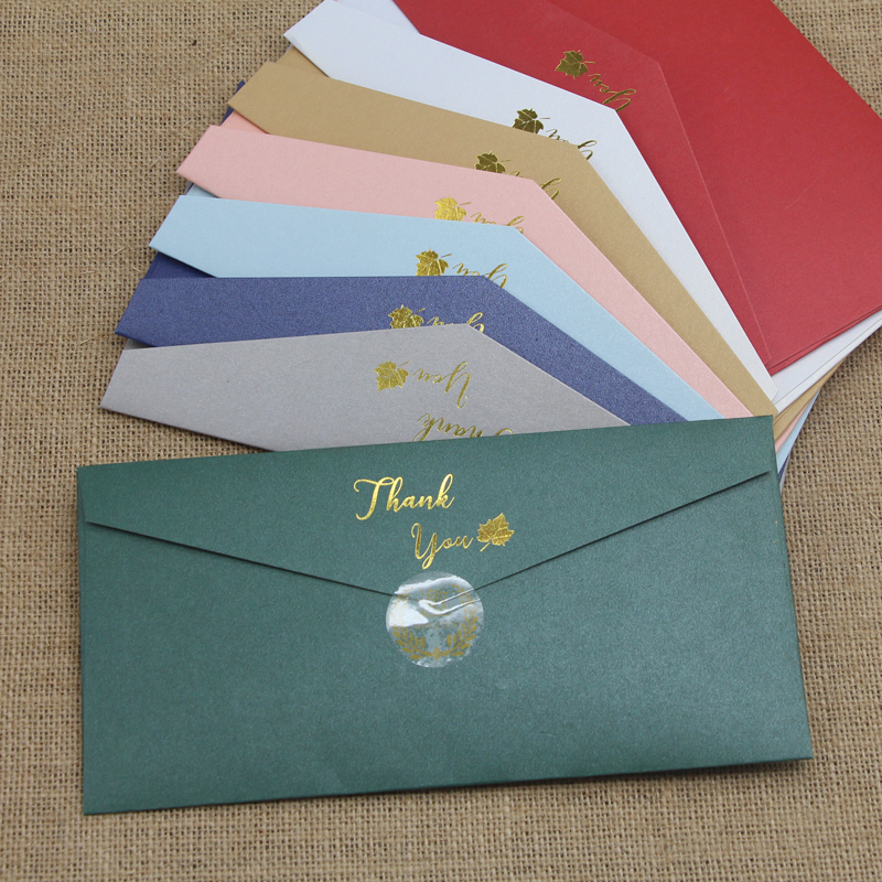 Colorful High Quality #5 200GSM Paper Envelopes THANK YOU, FOR YOU Invitation Wedding Envelopes 50 Pcs